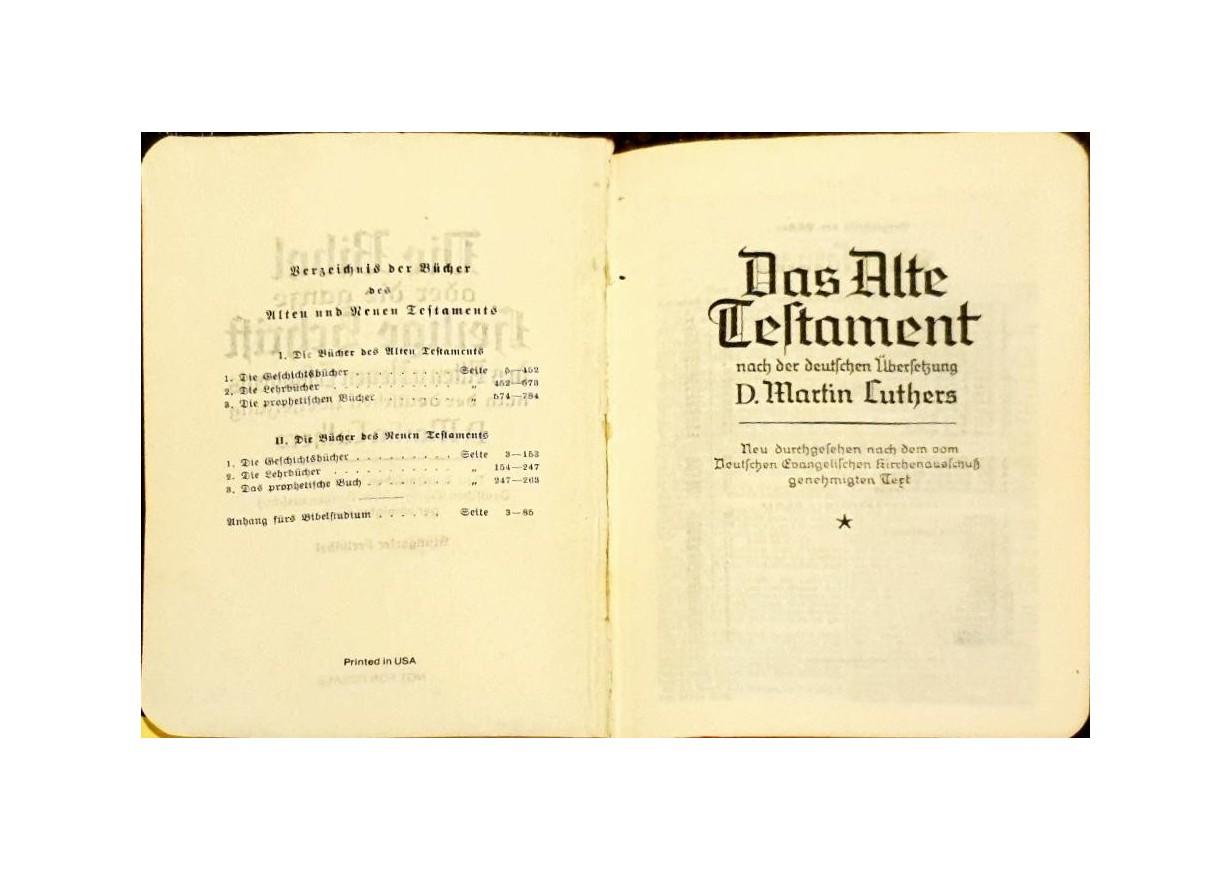 DIE BIBEL LUTHER ÜBERSETZUNG - gothische Schrift