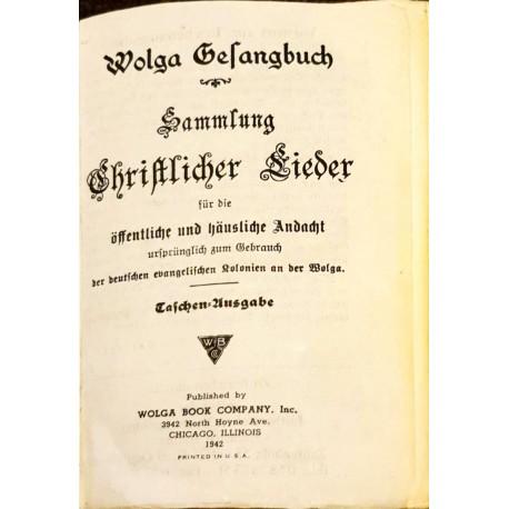 WOLGA GESANGBUCH - gothische Schrift